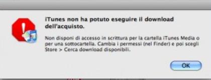Problemi con iTunes Store