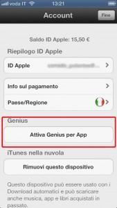 Genius Apple ITunes posizione